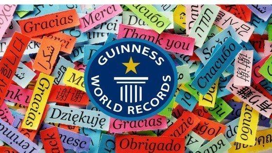 Språkrekord i Guinness Rekordbok
