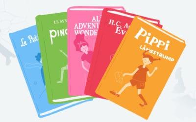 5 af de mest oversatte børnebøger, der er kendt og elsket verden over!